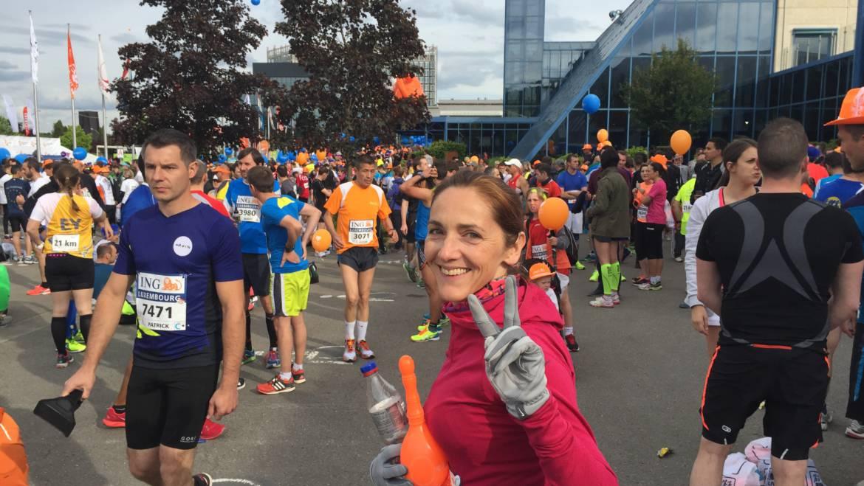 Sabine Gruner beim Luxemburg Marathon