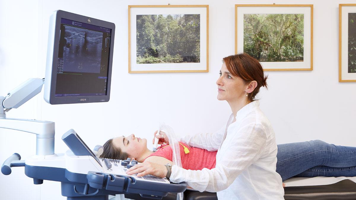 Untersuchung der Schilddrüse